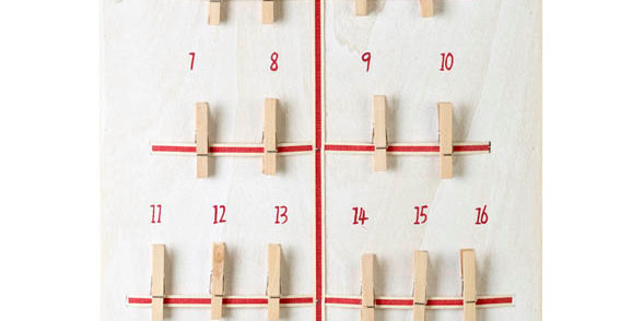 Advent Tree Calendar with Pegs