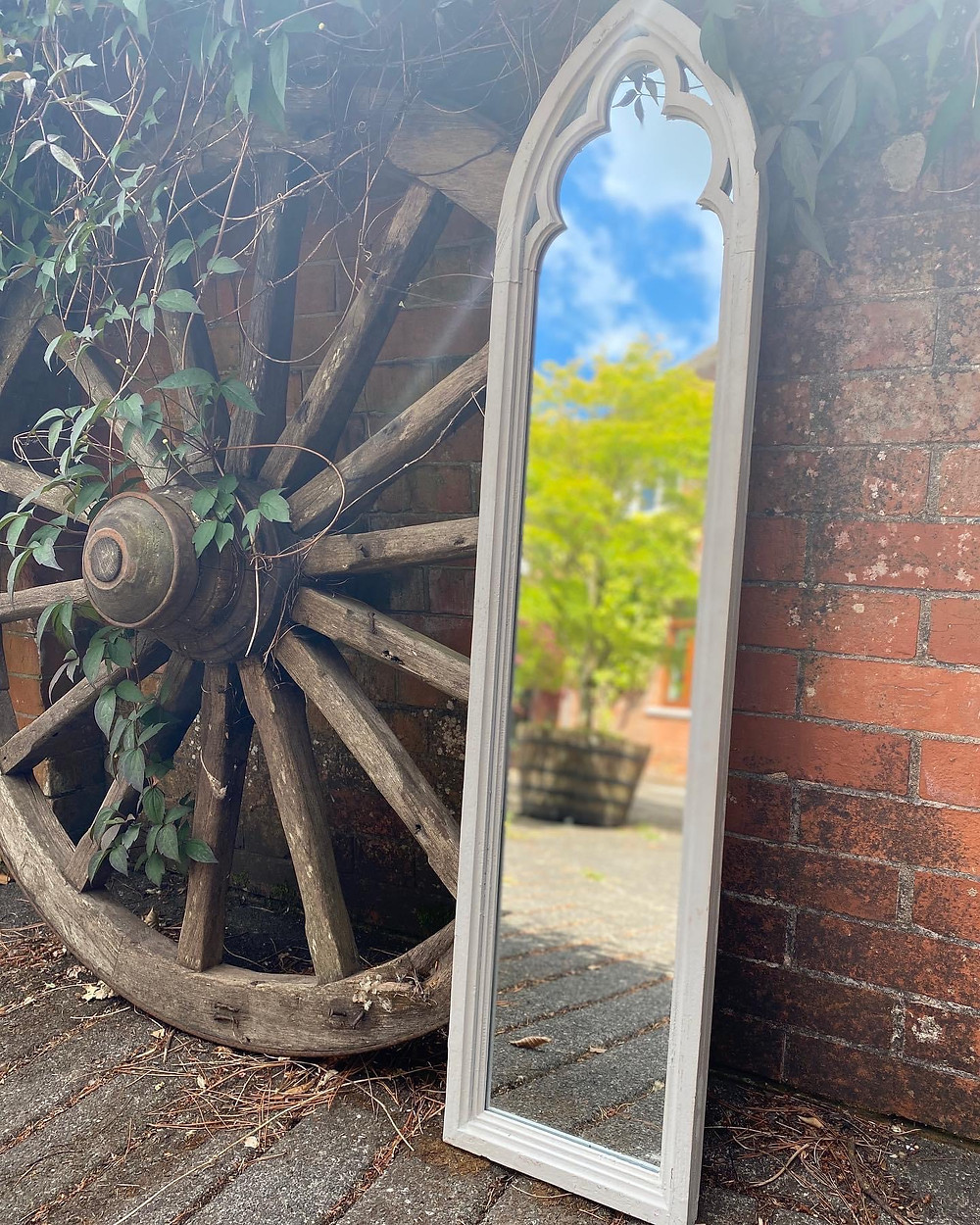 Stunning Cathedral Tall Mirror, Dressing your outside space.
