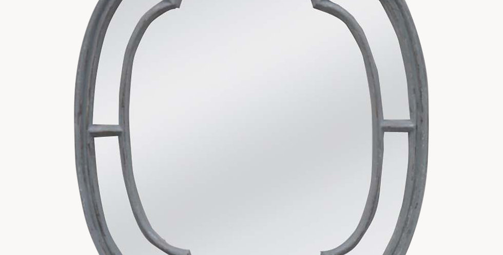 Wilton Powder Grey Over Mantel Mirror
