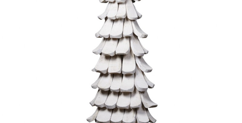 Large White Wooden Christmas Tree
