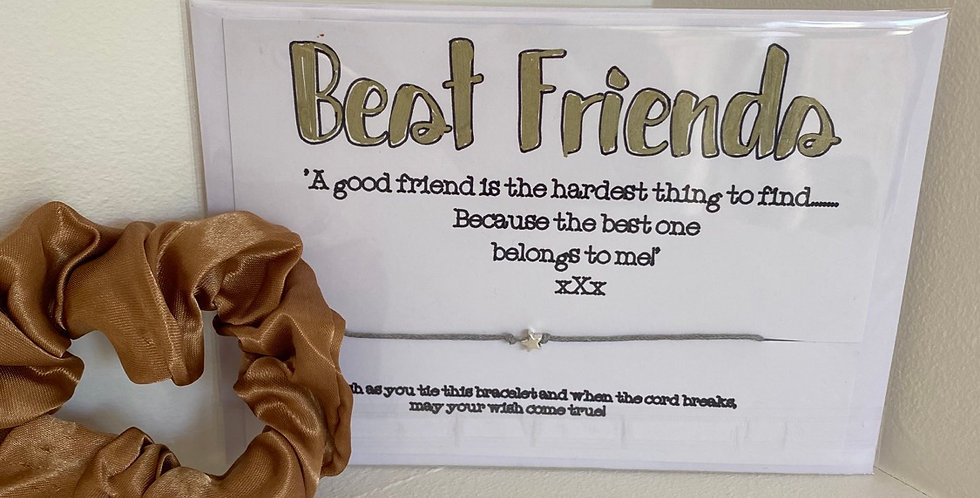 Best Friends Wish Bracelet and Scrunchie Gift Set