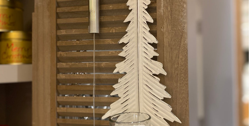 White tree wall sconce