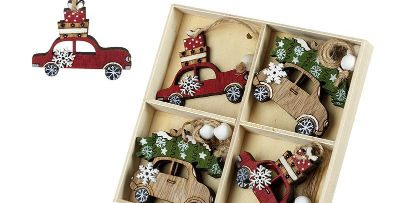 Wooden Car Hanging Tree Decoations