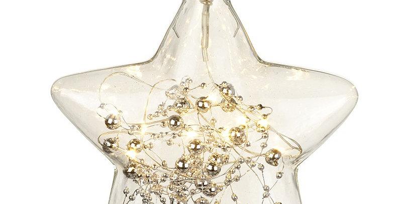 Glass Hanging LED Star