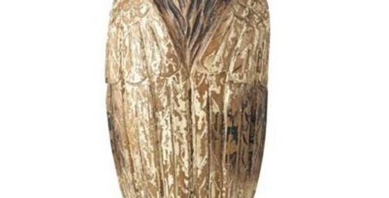 Large Rustic Wooden Owl
