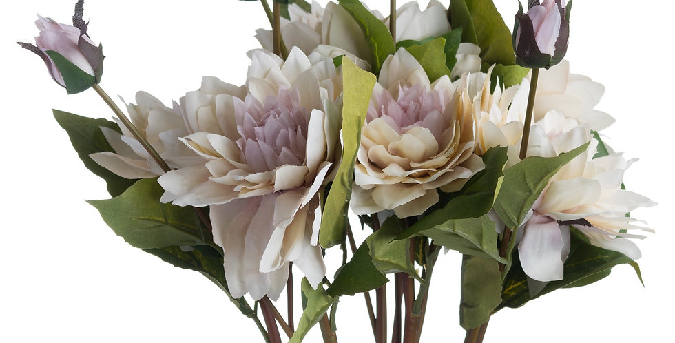 Coffee Cream Dahlia Artificial Flower