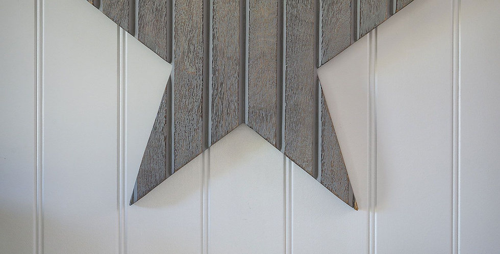 T&G Style Wall Star Grey