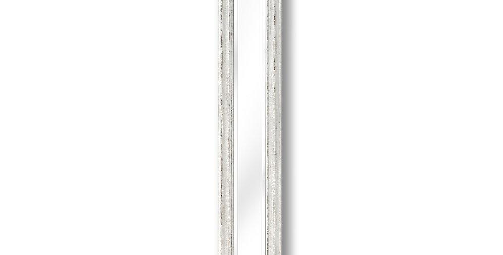 Antique White Frame Narrow Wall Mirror