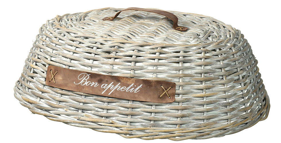 Wicker Dome Food Cover