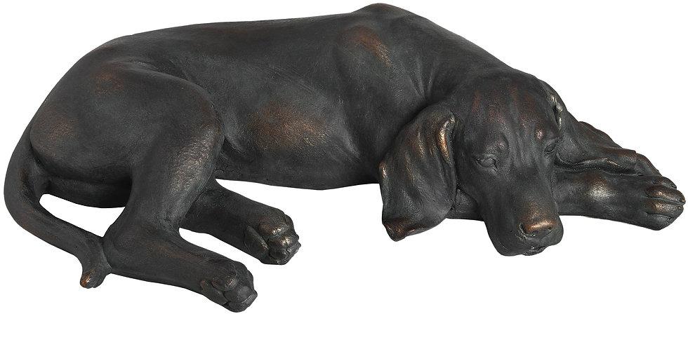 Lazy Spaniel Lying Dog Statue