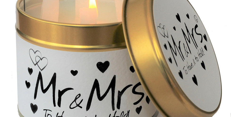 Lily Flame Mr & Mrs Scented Candle