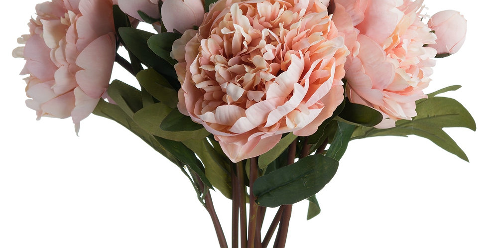 Peach Peony Artificial Rose