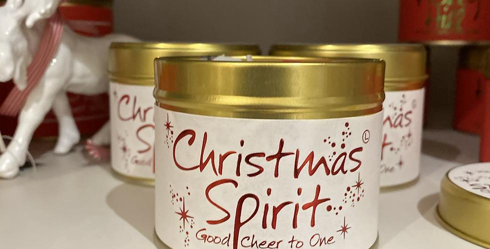 Christmas Spirit Tin Candle