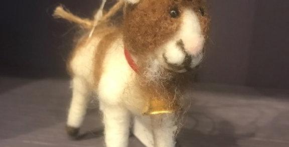 Felt Billy Goat Christmas Decoration
