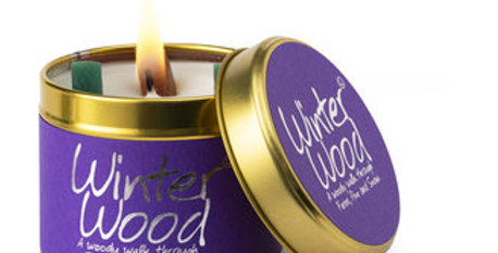 Lily Flame Winter Wood Scented Candle