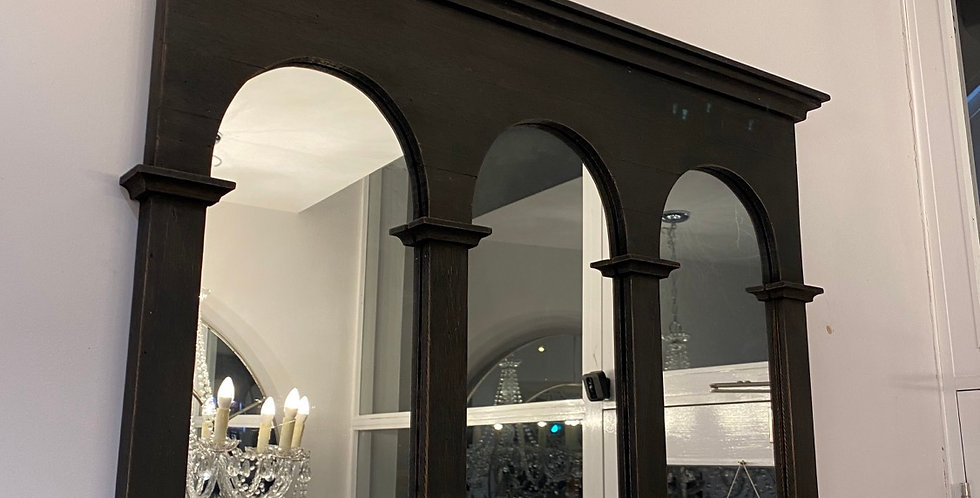 Black Gothic Inspired Arched Mirror