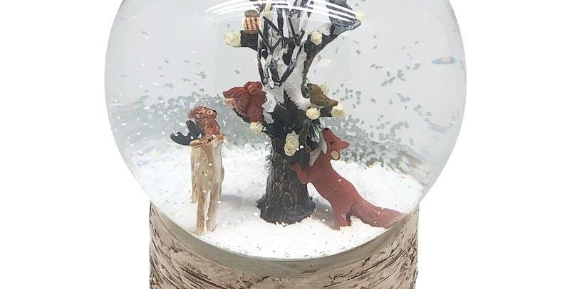 Woodland Animals Musical Snow Globe
