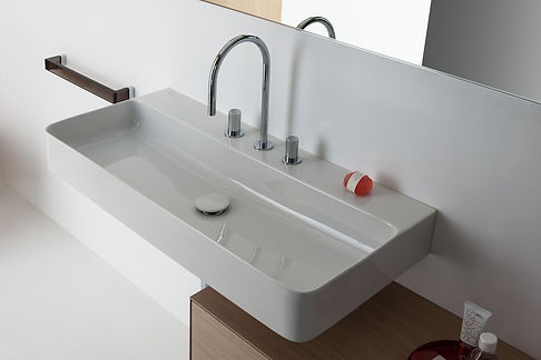 A bathrom sink and tap combination provided by Inline.