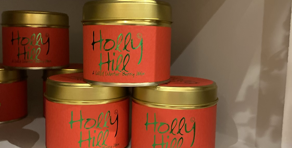 Holly Hill Tin Candle