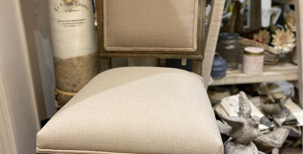 Padded Natural Coloured Contemporary Chair