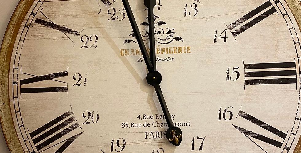 Grande Épigerie Round Wall Clock