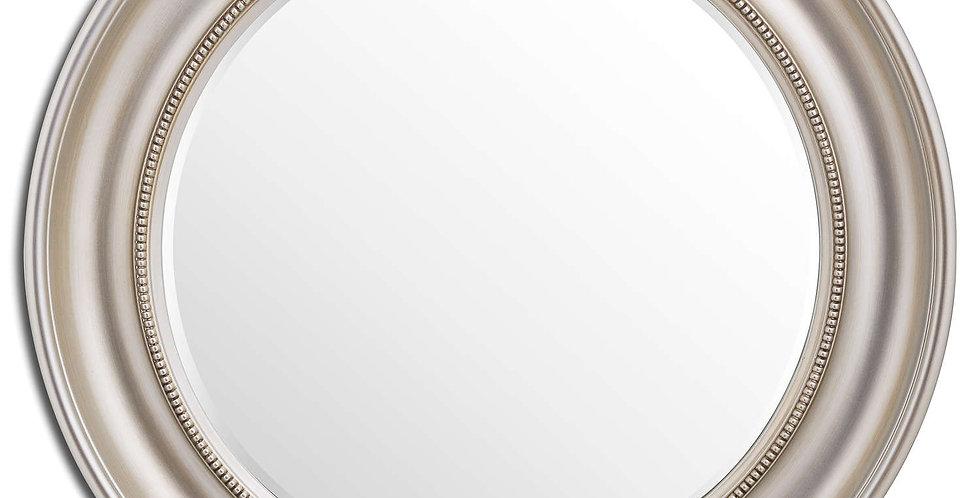 Detailed Circular Champagne Wall Mirror