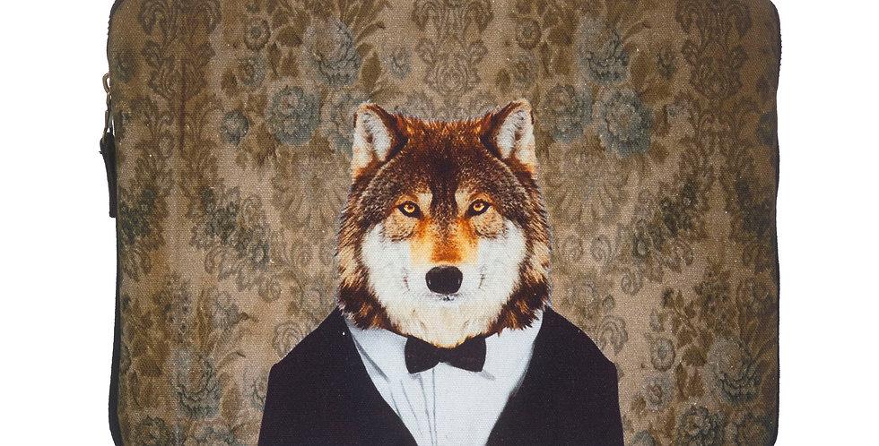 Wolf in Tux Laptop Case
