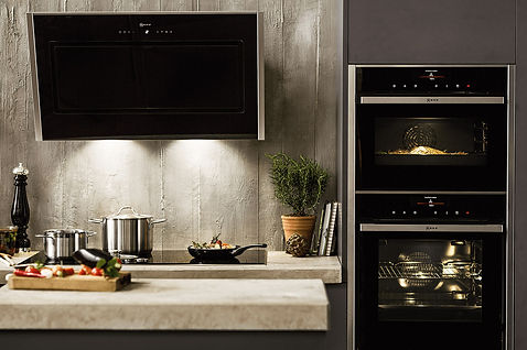 Professionally fitted kitchen.