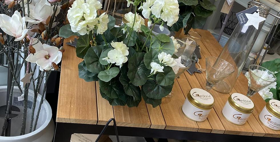 Off white faux geranium
