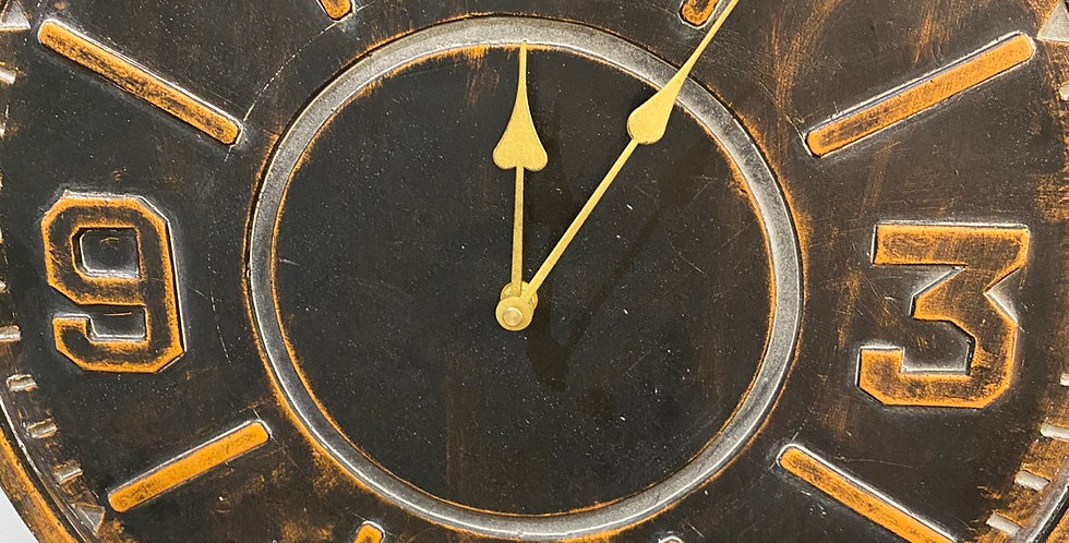Round industrial Bronzed Style Clock
