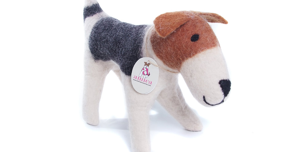 Large Felt Freddie the Fox Terrier