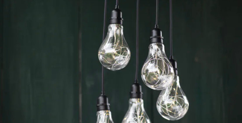 Festoon cluster lights - battery operated.