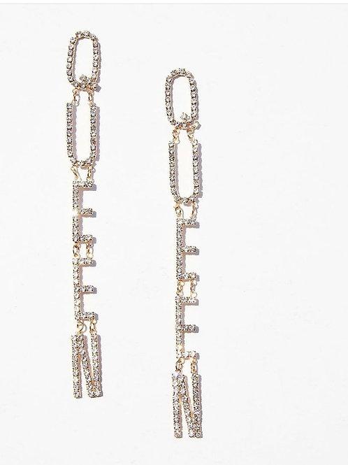 QUEEN Chain Earrings