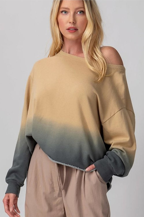 Ombre Cropped Sweater