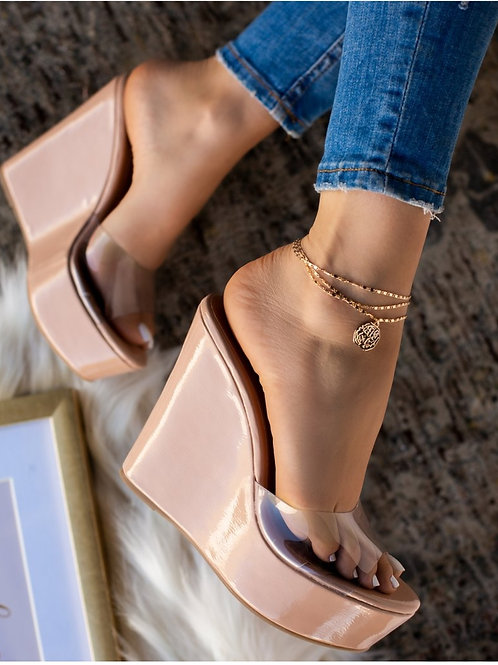 Clear Nudes Wedges