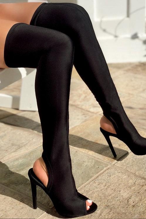 Badass Thigh High Lycra Boot