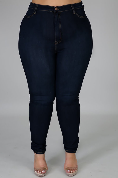 Dark Denim Plus Size Jeans