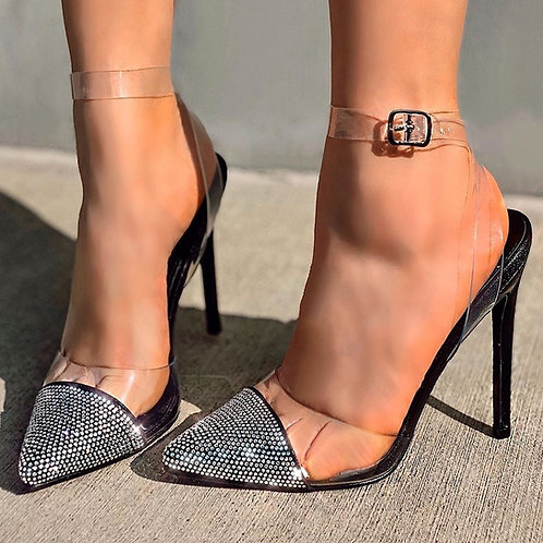 Chasity Clear Bling Heel