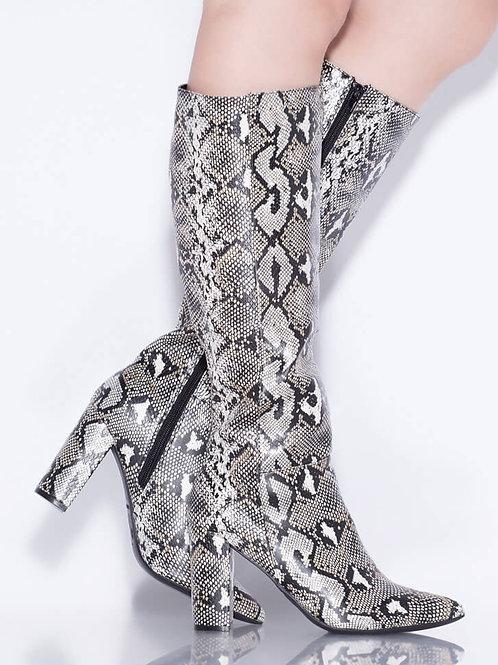Snakeskin Fashion Boots