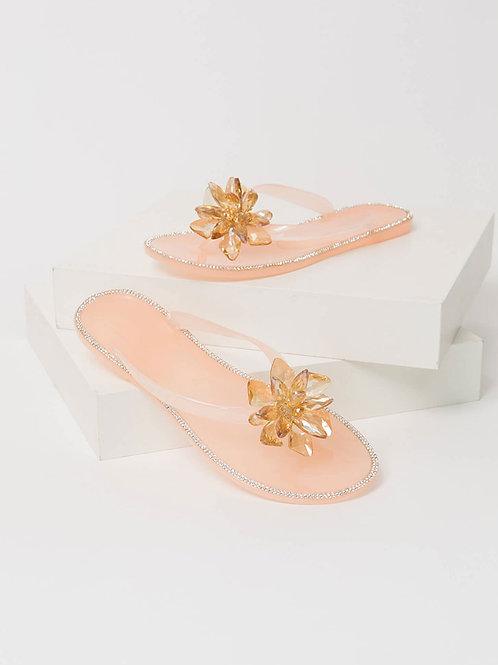 Jeweled Flower Sandal