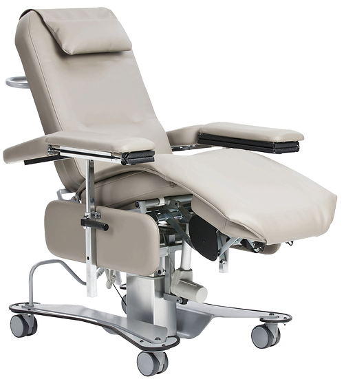 Adeen raised with fold-out tables, bi-lateral caster locks, and comfort topper