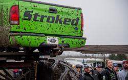 Tailgate of monster truck