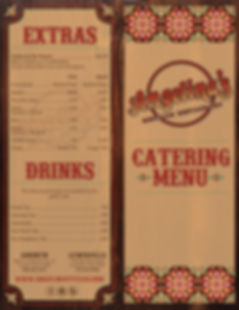 Angelina's Catering Menu