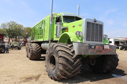 Semi truck converted to monster truk