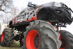 Monster truck from low angle