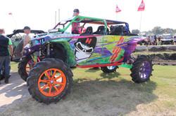 Rainbow/tie dye colorful ATV