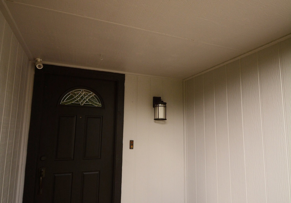 Exterior paint and trim work