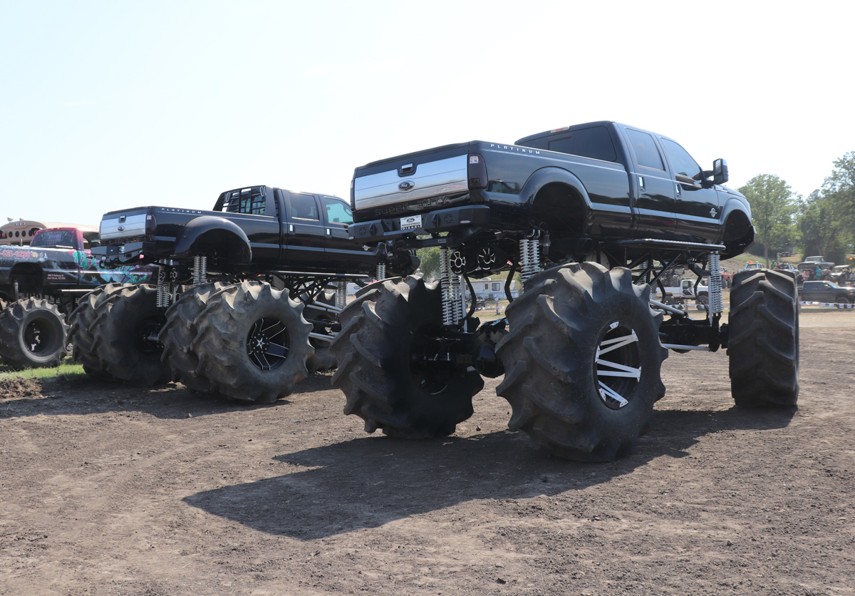 Massive f250 monster trucks