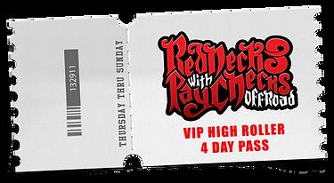 VIP High Roller 4 Day Pass