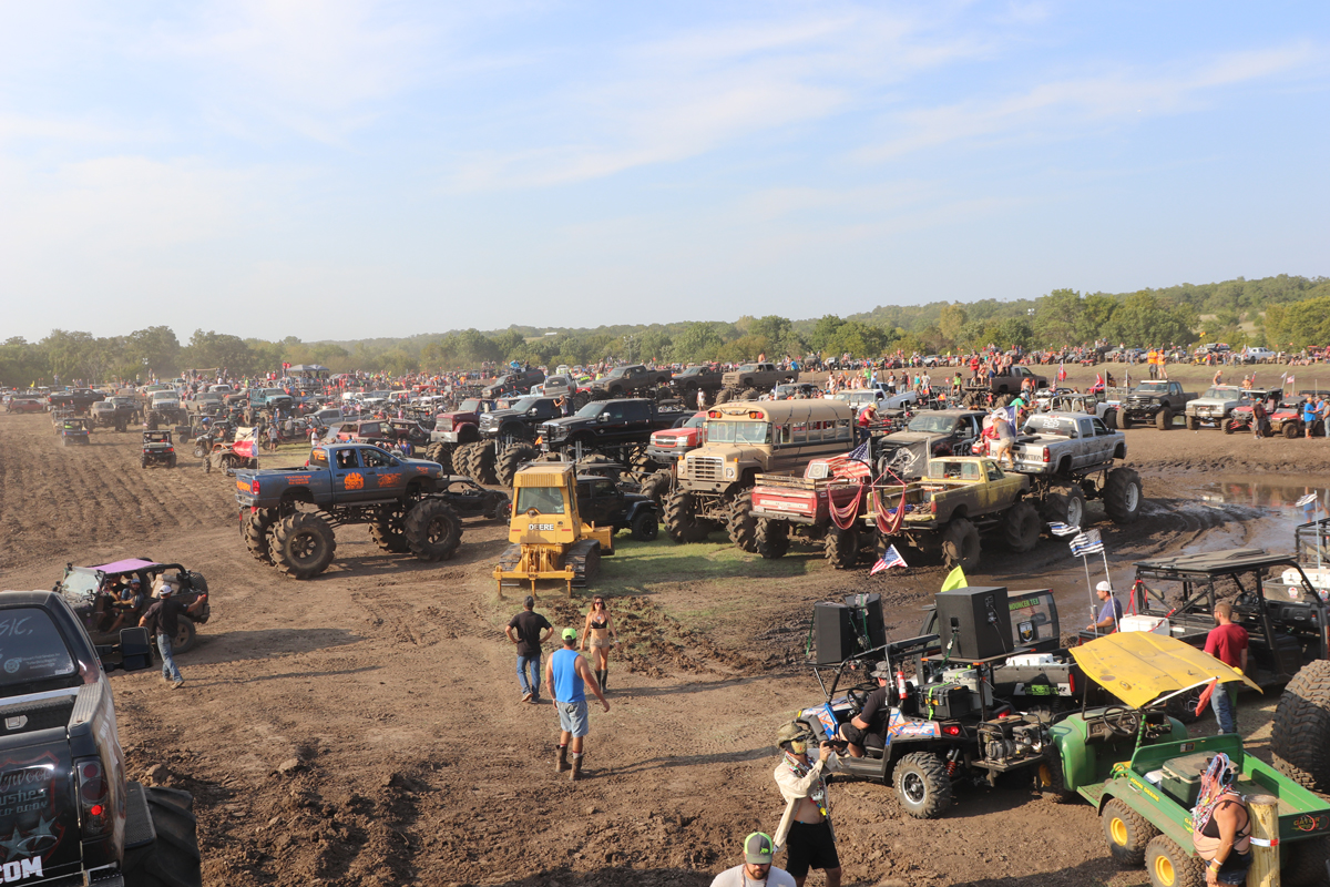 Dozens of ATV's parked